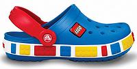 Детские кроксы Crocs Crocband Lego Blue синие