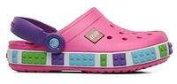 Детские кроксы Crocs Crocband Lego Pink розовые