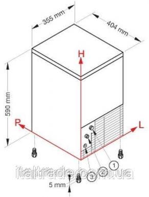 Ледогенератор  Brema СВ 246 W (кубик), фото 2
