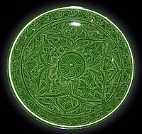 Ляган. Узбекская керамика. Самарканд. d~42 см