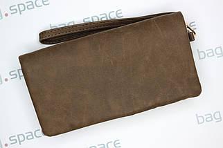 Кошелёк-клатч женский LBB Rome, тёмно-коричневый, фото 3