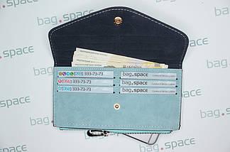Кошелёк-конверт женский Florence Nadira, голубой, фото 3
