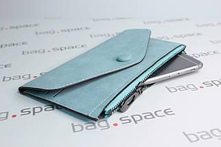 Кошелёк-конверт женский Florence Nadira, голубой, фото 2