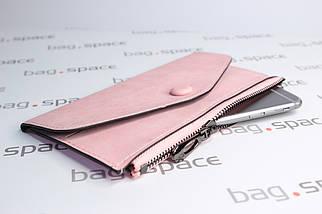 Кошелёк-конверт женский Florence Nadira, розовый (пудровый), фото 2