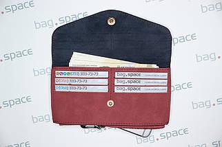 Кошелёк-конверт женский Florence Nadira, бордовый, фото 3