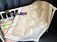 Теплое байковое одеяло 100% хлопок, цвет на выбор Бежевое