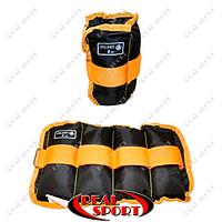 Утяжелители-манжеты для рук и ног Zelart UR ZA-2072-2 (2 x 1,0кг) (верх-полиэстер, наполнитель-песок)