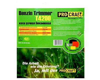 Бензокоса Procraft T 4200, фото 2