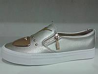 Модные мокасины женские цвета серебро.р.36-41.