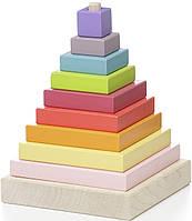 Кубики деревянные Пирамида LD-5 12329