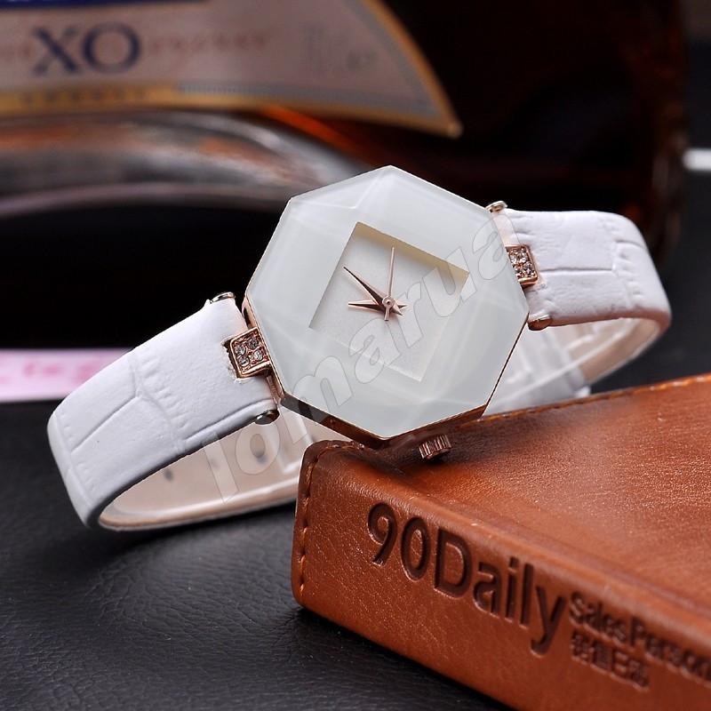 Кварцевые женские часы Octaedre White