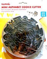 """Вырубка кондитерская """"Алфавит английский"""" набор 26 форм металл"""