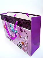 """Подарочный пакет""""Бабочки-3"""",фольг.,(32,5х23х10,5см)"""