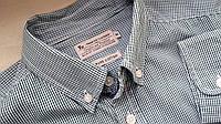 Mужская рубашка в клетку зеленая  Размер М