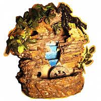 Фонтан Дерево подвесной с искусственными листьями с конем без подсветки с мельницей 35 см возможность подвесно