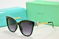 Солнцезащитные очки Tiffany голубые с черным