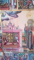 Икона  св. Харлампия с житием  19 век Россия, фото 3