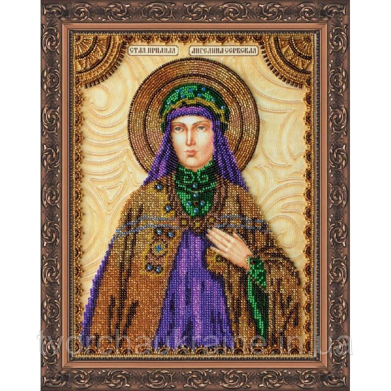 Набор для вышивки бисером именной иконы «Святая Ангелина»