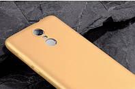 Чехол Бампер MAKAVO для Xiaomi Redmi Note 4 Матовый ультратонкий золотой