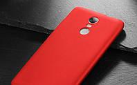 Чехол Бампер MAKAVO для Xiaomi Redmi Note 4 Матовый ультратонкий красный