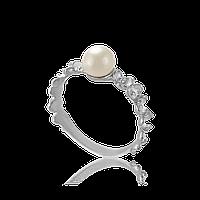 Серебряное кольцо ВЕРОНА 925 пробы с накладками золота 375 пробы.Серебряное кольцо с золотой пластиной