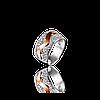 Серебряное кольцо ВИРДЖИНИЯ 925 пробы с накладками золота 375 пробы.Серебряное кольцо с золотой пластиной