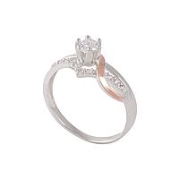 Серебряное кольцо КОРОНА 925 пробы с накладками золота 375 пробы.Серебряное кольцо с золотой пластиной