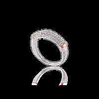Серебряное кольцо МИЛЕНА 925 пробы с накладками золота 375 пробы.Серебряное кольцо с золотой пластиной