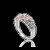 Серебряное кольцо НЕЖНОСТЬ 925 пробы с накладками золота 375 пробы.Серебряное кольцо с золотой пластиной