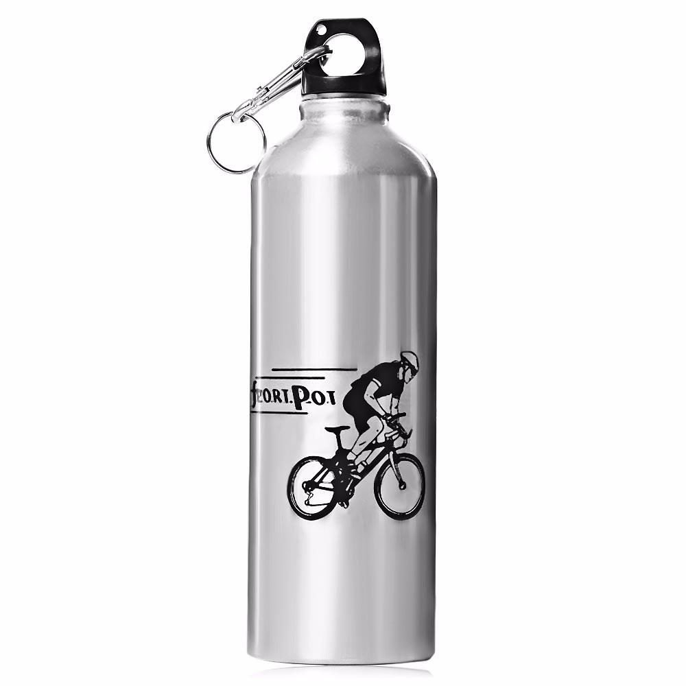 Велосипедная Фляга Robesbon вело бутылка для воды алюминиевая Silver
