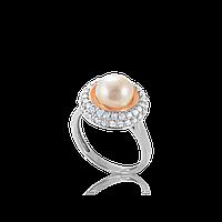 Серебряное кольцо САРА 925 пробы с накладками золота 375 пробы.Серебряное кольцо с золотой пластиной