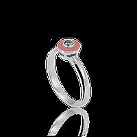 Серебряное кольцо ТИНА 925 пробы с накладками золота 375 пробы.Серебряное кольцо с золотой пластиной