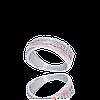 Красивое серебряное кольцо ЭМИЛИЯ 925пробы с накладками золота 375 пробы.Серебряное кольцо с золотой пластиной