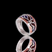 Серебряное кольцо ЭДЕМ 925 пробы с накладками золота 375 пробы.Серебряное кольцо с золотой пластиной