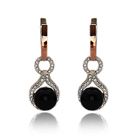 Серебряные серьги АЛМА 925 пробы со вставками золота 375 пробы , фото 1
