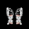 Серебряные серьги АНТОНИНА 925 пробы со вставками золота 375 пробы