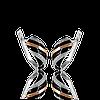Серебряные серьги ВЕНЕРА 925 пробы со вставками золота 375 пробы