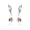 Серебряные серьги ГАРМОНИЯ 925 пробы со вставками золота 375 пробы