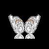 Серебряные серьги КАРМЕН 925 пробы со вставками золота 375 пробы