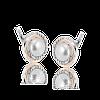 Серебряные серьги ЛИДИЯ 925 пробы с НАКЛАДКАМИ золота 375 пробы