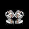 Серебряные серьги  НАТАЛИ 925 пробы с НАКЛАДКАМИ золота 375 пробы