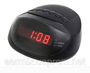 Часы с радиоприемником 318 AM-FM, радиоприемник, часы электронные с радиоприемником, настольные часы-будильник