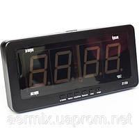 Часы электронные Caixing CX 2159, электронные часы с ярким светодиодным LED дисплеем, часы настенно-настольные