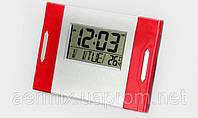 Часы настольные электронные KENKO-6871 LСD с функцией градусника и будильника, многофункциональные часы