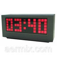 Часы электронные VST 2191-1 красный, настольные часы будильник для дома, часы сетевые VST, компактные часы