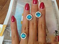 КРАСИВОЕ И НЕЖНОЕ Серебряное кольцо 925 пробы  МАДЛЕН