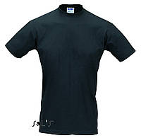 Акция! Мужская футболка без боковых швов, цвет чёрный,размеры с,м,л,хл.