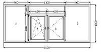 Лоджия, балкон под стекло 3100*1360