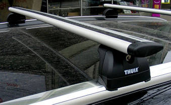 Багажник Thule-753 WingBar (алюминиевый плоский)  на интегрированные рейлинги, фото 3