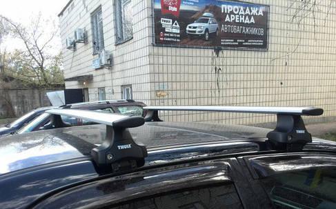 Багажник Thule-754 WingBar (алюминиевый плоский) на гладкую крышу, фото 2
